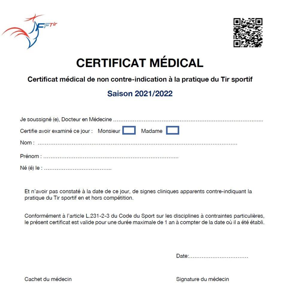 certificat fftir 2021 2022